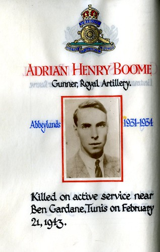 Boome, Adrian Henry (1916-1943) | by sherborneschoolarchives