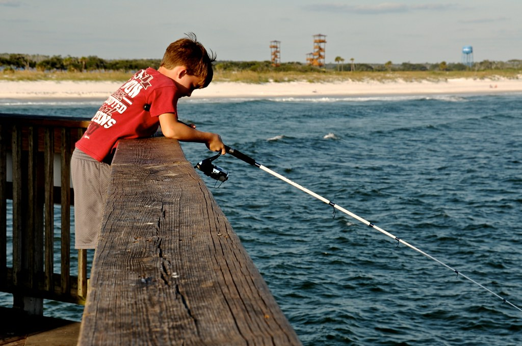 On the fishing Pier at  Gulf Shores, AL