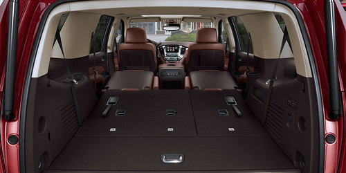 2015 Chevrolet Tahoe Interior featuring Power Fold Flat Seats Photo
