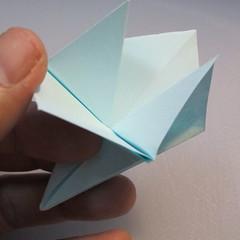 การพับกระดาษรูปดอกมอร์นิ้งกลอรี่ (Origami Morning Glory – アサガオの折り紙) 010
