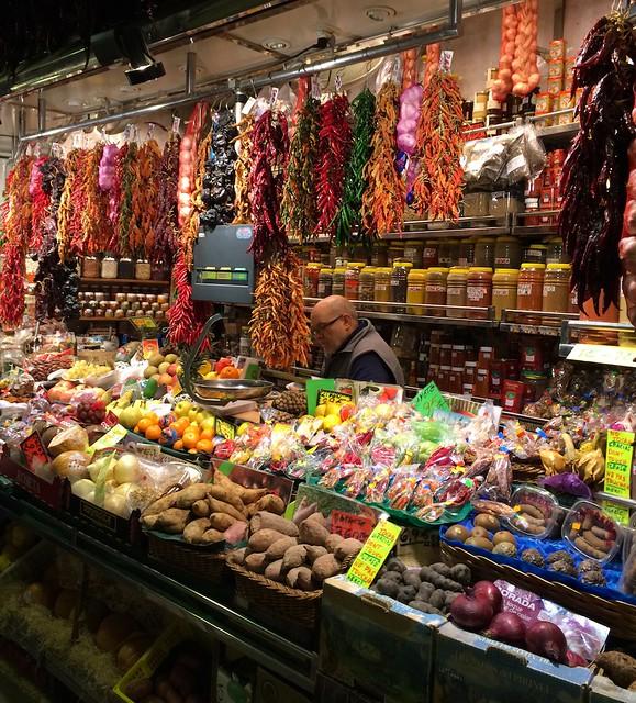 La Boqueria - Hanging peppers
