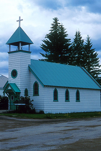 St. Patrick's Church, McBride, Yellowhead Highway 16, Mount Robson Valley, Northern British Columbia, Canada