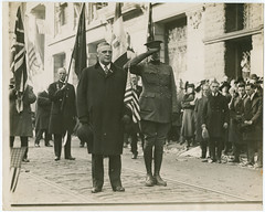 Gov. W. C. Sproul & son Jack led the Union League in Peace Parade on Armistice Day, Nov. 11, 1918