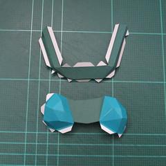 วิธีทำโมเดลกระดาษตุ้กตาคุกกี้รัน คุกกี้รสสตอเบอรี่ (LINE Cookie Run Strawberry Cookie Papercraft Model) 020
