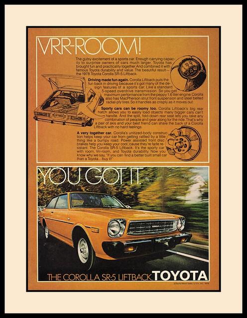 Toyota Corolla SR-5 Liftback, 1978
