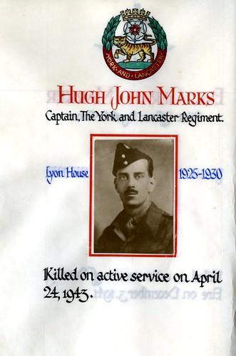 Marks, Hugh John (1912-1943)   by sherborneschoolarchives
