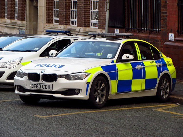 West Midlands Police/Central Motorway Police Group BMW 330d Traffic Car (MW06) BF63 COH, Birmingham Central Police Station.