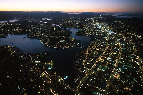 Victoria at Twilight, Vancouver Island, British Columbia, Canada