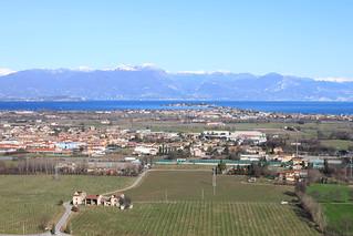 Sirmione e panorama dalla Torre di San Martino.