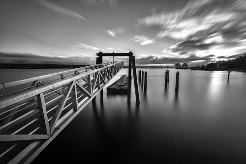 longexposure blackandwhite pier washington dock nikon pugetsound tacoma d610 commencementbay bw10stopndfilter