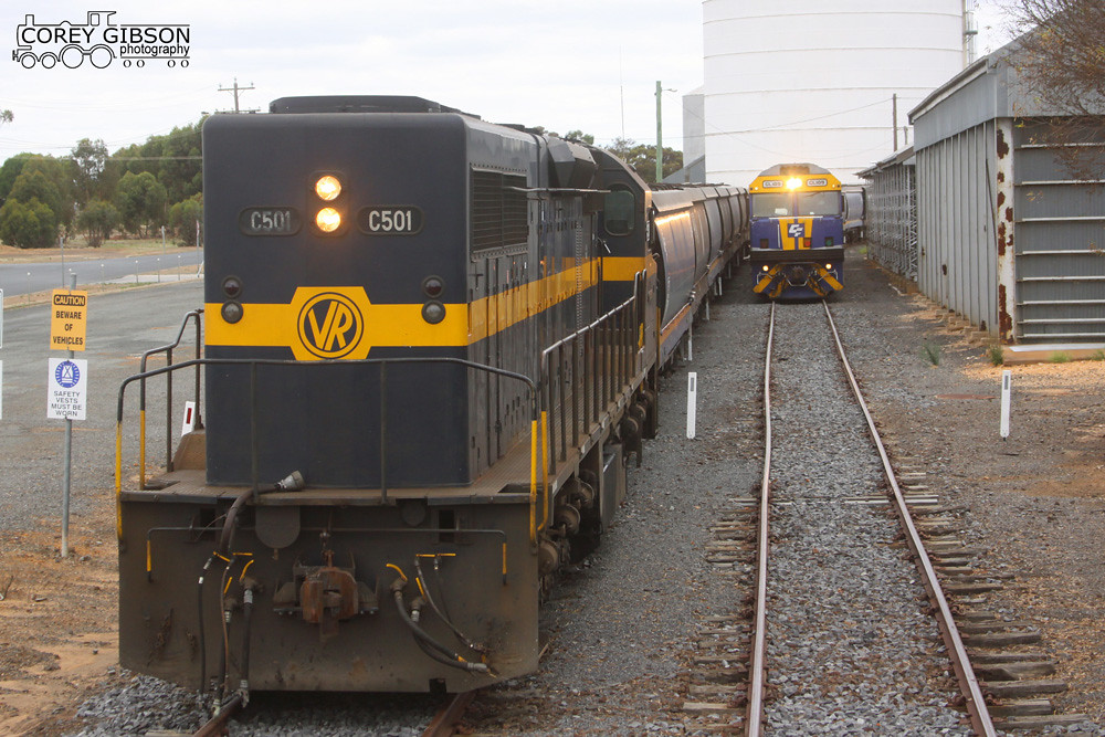 C501 & GL109 loading grain at Nhill by Corey Gibson
