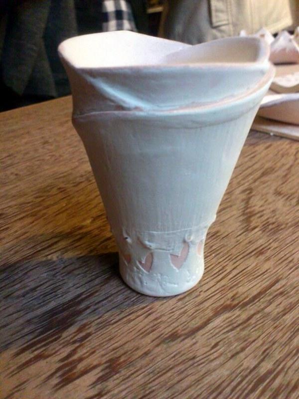 Dia do Ceramista 7 Esmaltação  desenho em cera