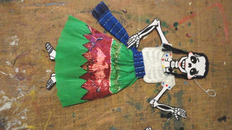 Calaverita Vestida Calaveritas De Papel Cortes Flickr