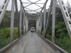 One-lane steel bridge