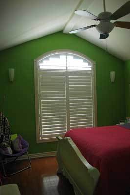 Arch Seaview Poly Satin Shutters