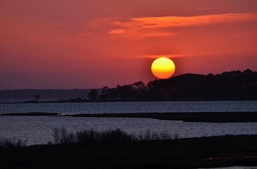 sunset usa sun water island bay ryan maryland assateague chincoteague nationalseashore grennan rgrennan