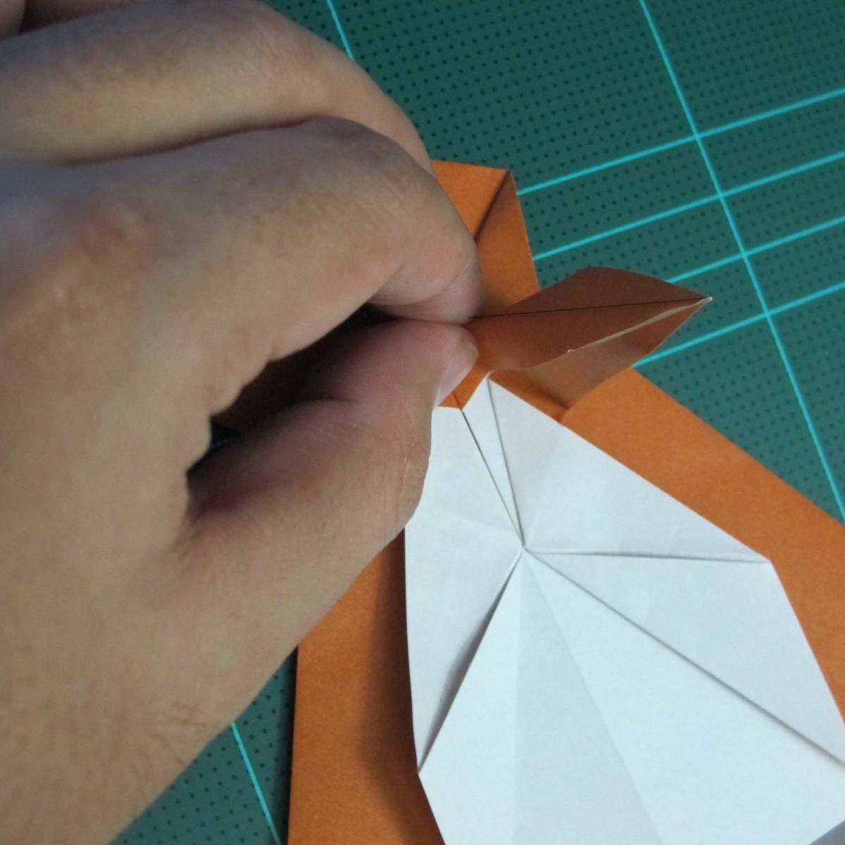 วิธีการพับกระดาษเป็นรูปกบ (แบบโคลัมเบี้ยน) (Origami Frog) 029