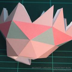 สอนทำโมเดลกระดาษเป้นรูปแจกันโบราณ (Papercraft Model Flower Vase) 023