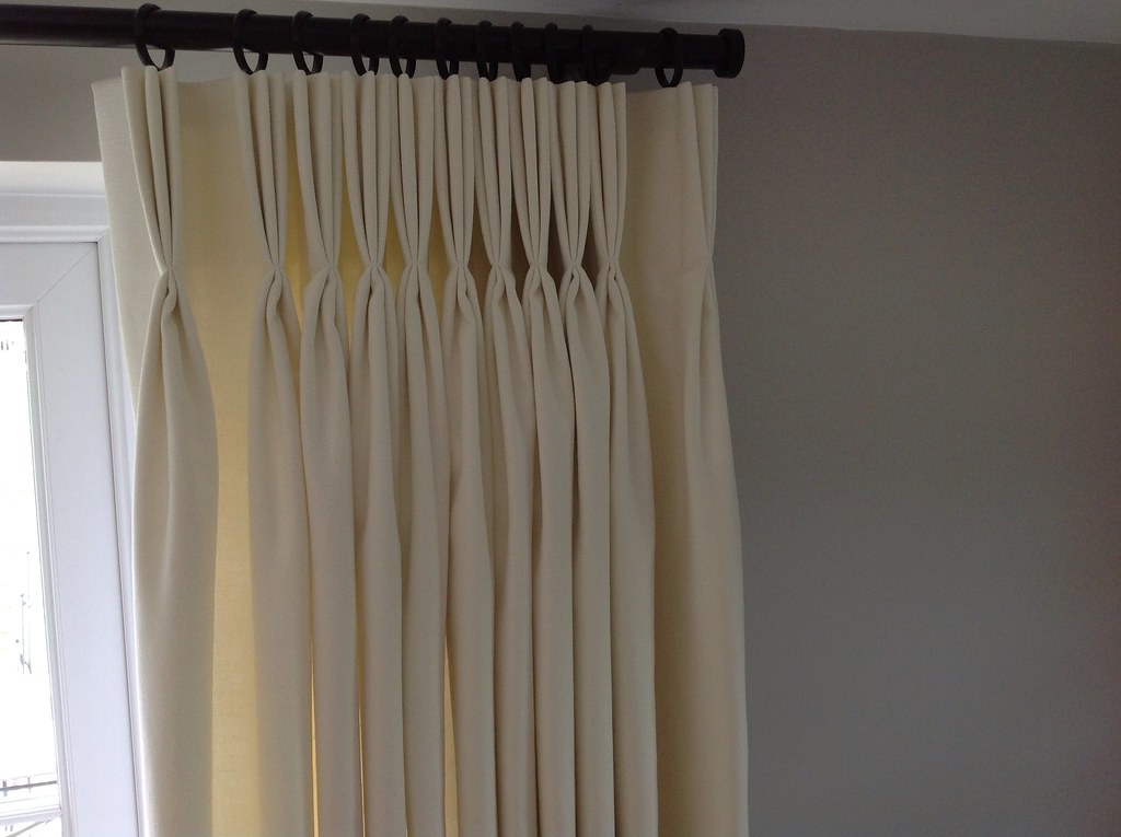 Pinch pleat headed curtains