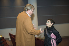 DO lecture attendees talk after presentation