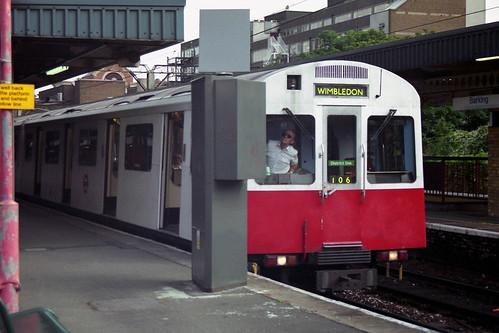 London Underground - District Line - D stock at Barking