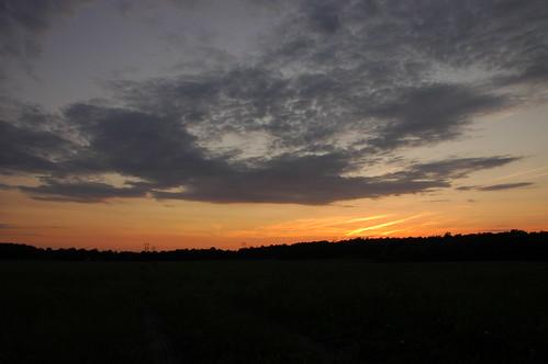 sunset sky clouds electricity