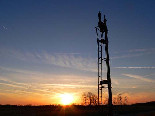 sunset sky semaphore