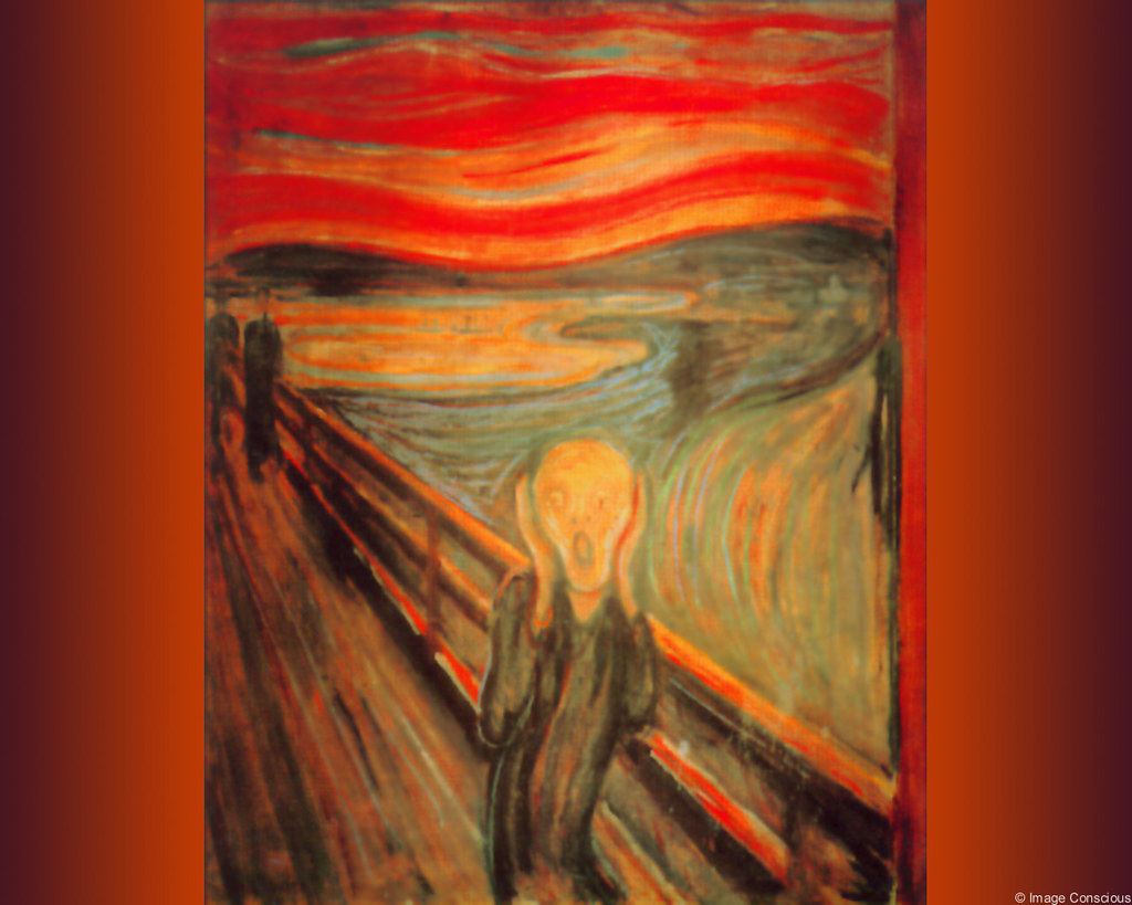 Edvard Munch - Geschrei - The Scream - 1895 - color versio