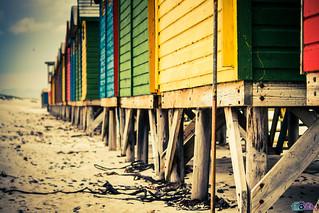 Colourful beach huts at Muizenberg Beach, Cape Town. | by tino1b2be