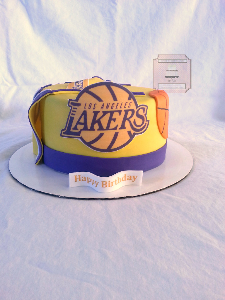 Super Lakers Basketball Birthday Cake 8In Lakers Basketball Birt Flickr Funny Birthday Cards Online Sheoxdamsfinfo