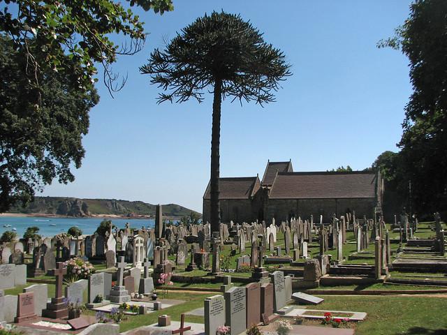 Church above St Brelade's Bay