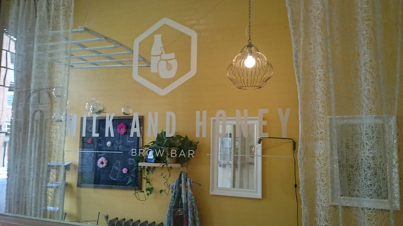 Milk and Honey etch glass or plexi