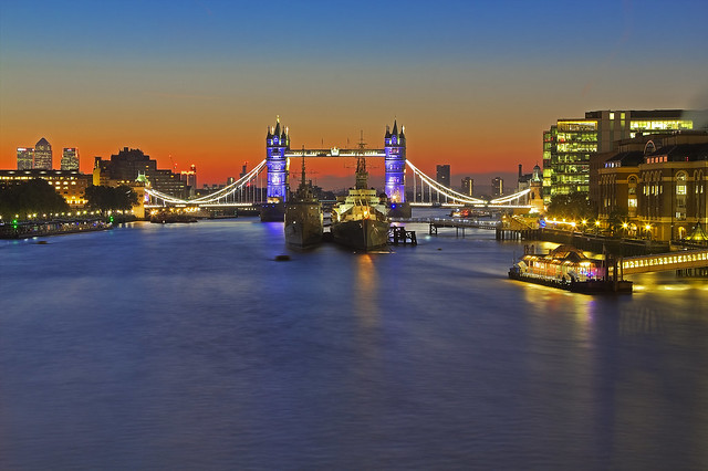 L'alba perfetta / The perfect sunrise (Tower Bridge, London United Kingdom)(Explore!!!)