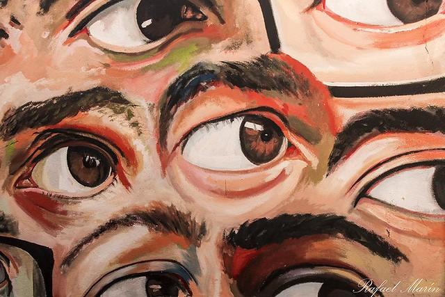 Stunned eyes.