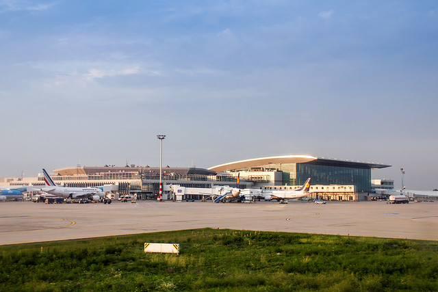 The Liszt Ferenc (Ferihegy 2, BUD) airport from outside