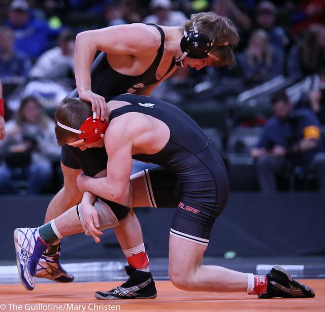 126AA - 1st Place Match - Jake Gliva (Simley) 45-2 won by decision over Jackson Stauffacher (Scott West) 39-7 (Dec 3-2)