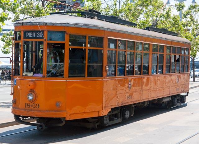 Unique streetcar in San Francisco