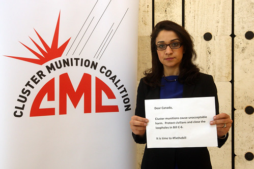 Leila  Alikarami (Iranian Campaigner from the The Centre for Supporters of Human Rights (London) © Giovanni Diffidenti-CMC | by Mines Action Canada