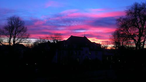 sky colors sunrise dark