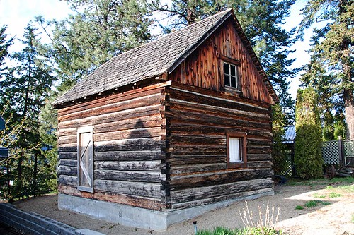 Heritage Dovetail Building, Chase, South Thompson River Valley, Shuswap, British Columbia, Canada