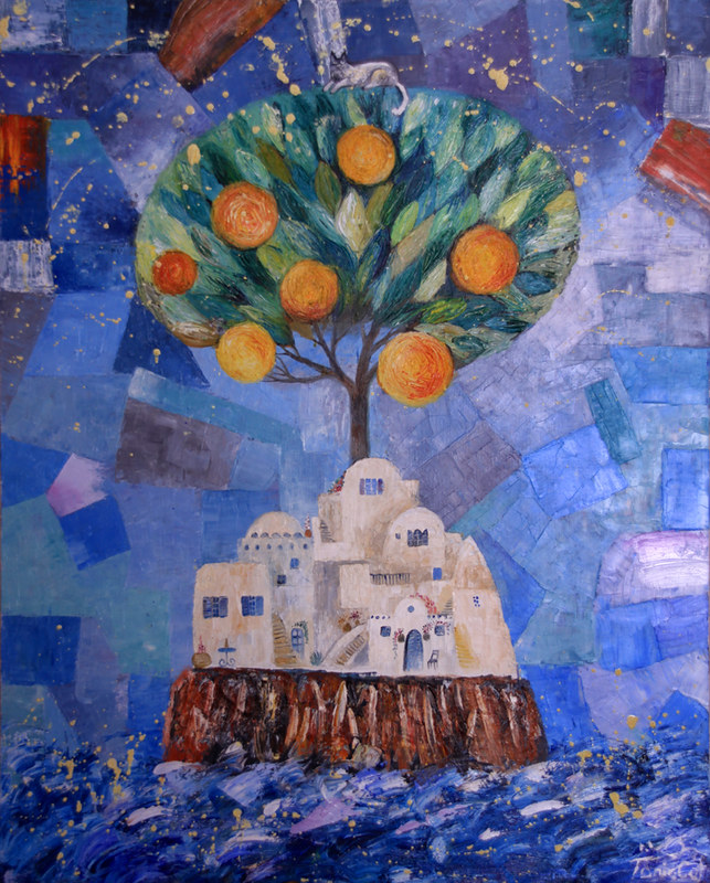 Апельсиновое дерево ( Сказочный остров) холст- масло 100х80см. - Тоня Свалбонене