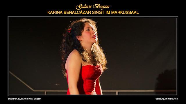 KARINA BENALCÁZAR SINGT IM MARKUSSAAL