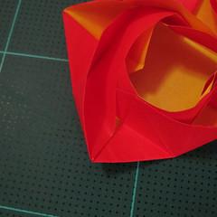 สอนวิธีพับกระดาษเป็นดอกกุหลาบ (แบบฐานกังหัน) (Origami Rose - Evi Binzinger) 020