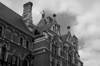Looking up at the ends of the Inns of Court