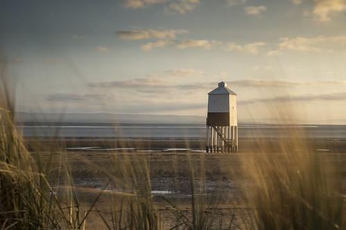 sea england lighthouse west grass wooden long exposure south low somerset grasses burnham burnhamonsea