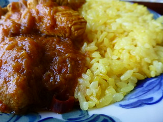 Chicken curry & Turmeric rice 2 | by Human-Faced Bun & Honey Pudding