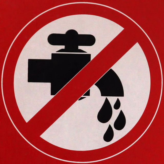 No drining water