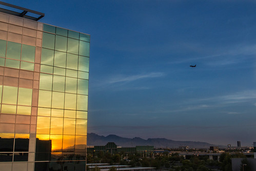 windows usa reflection building glass plane sunrise lasvegas aircraft nevada vehicles takeoff offices navada canoneos60d ef2470mmf28usmii