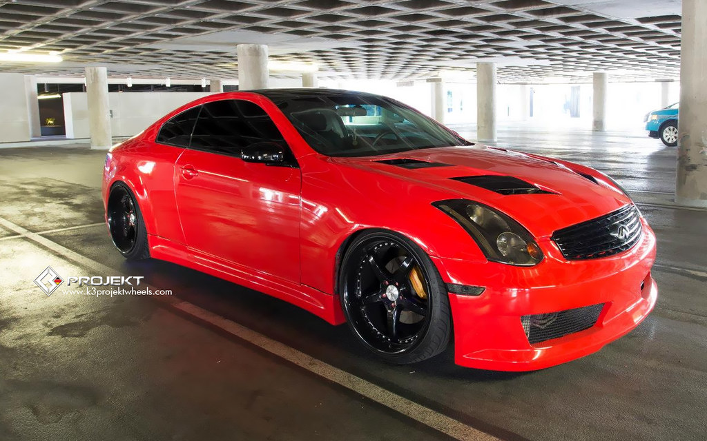 Infiniti G35 Custom >> K3 Projekt Wheels Infiniti G35 Coupe On Custom Powder Coat Flickr