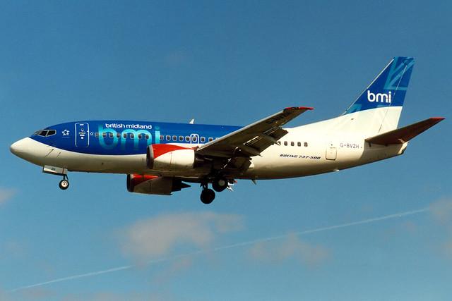 bmi British Midland | Boeing 737-500 | G-BVZH | London Heathrow